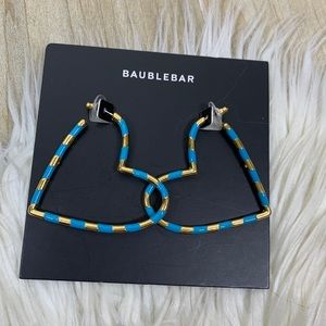 NWT Baublebar Annaelle Heart Earrings Blue Gold
